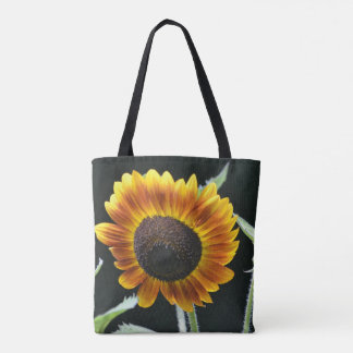 Glowing Golden Sunflower Tote Bag