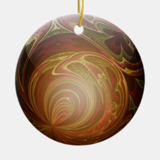 Glowing Golden, Textured Glass Marble Abstract Round Ceramic Decoration