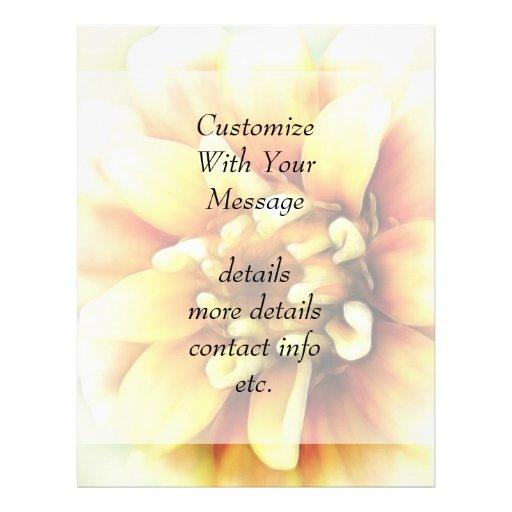 Glowing Golden Zinnia Custom Flyer