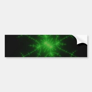 Glowing Green Fractal Explosion Bumper Sticker