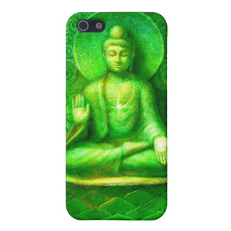 Glowing Green Zen Buddha iphone 4 case