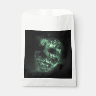 Glowing Halloween Skull in Green Favour Bags