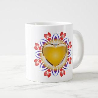 Glowing heart mug. jumbo mug
