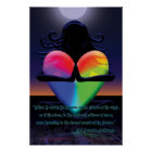 Glowing Heart Namaste pose Poster