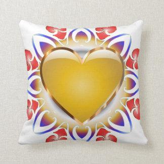 Glowing heart throw pillow. throw cushions