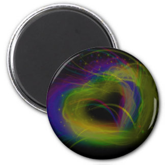 Glowing Hearts 6 Cm Round Magnet