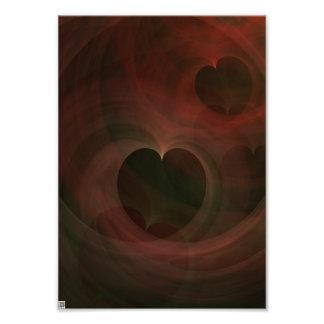 Glowing Hearts Photo Art