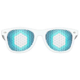 Glowing Hexagon Geometric Pattern Retro Sunglasses