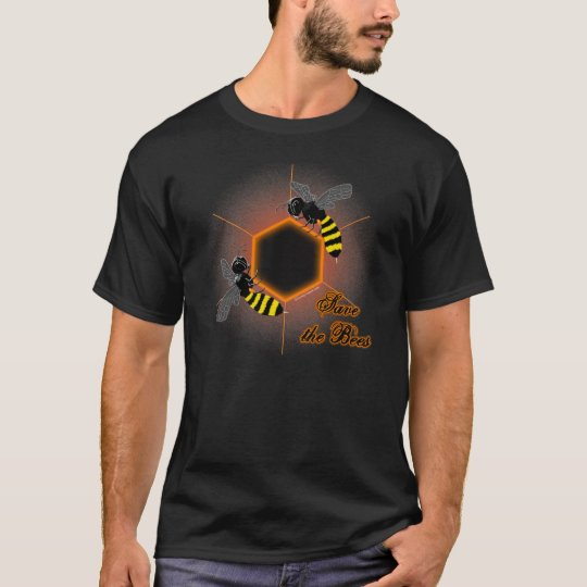 Glowing honeycomb bee t-shirt