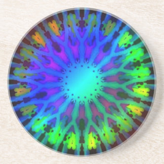 Glowing in the Dark Kaleidoscope art Beverage Coaster