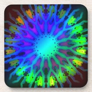 Glowing in the Dark Kaleidoscope art Coaster