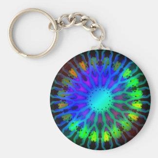 Glowing in the Dark Kaleidoscope art Key Ring