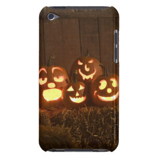 Glowing jack-o'-lanterns iPod touch case