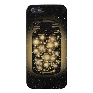 Glowing Jar Of Fireflies With Night Stars iPhone 5 Covers