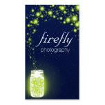 Glowing Jar Of Green Fireflies Blue Night Stars Pack Of Standard Business Cards