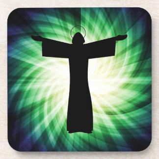 Glowing Jesus Christ Silhouette Coaster