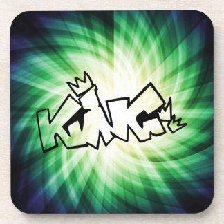 Glowing King Graffiti Beverage Coaster