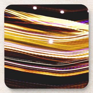 Glowing Light Streaks Drink Coasters