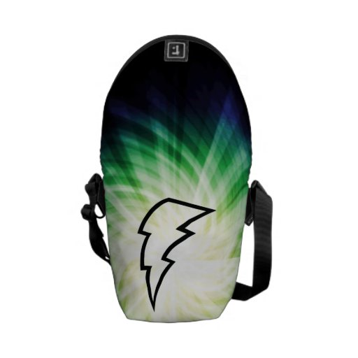 Glowing Lightning Bolt Courier Bags