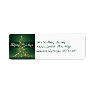 Glowing Lights Happy Holidays Address Label