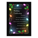 Glowing Lights Holiday Party Invitation
