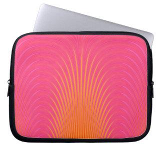 Glowing Lines - Pink and Orange Laptop Sleeve