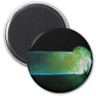 Glowing luminous pill refrigerator magnet