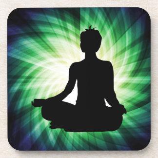 Glowing Meditation Ardha Drink Coaster