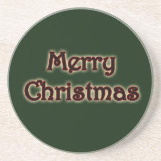 Glowing Merry Christmas Coaster