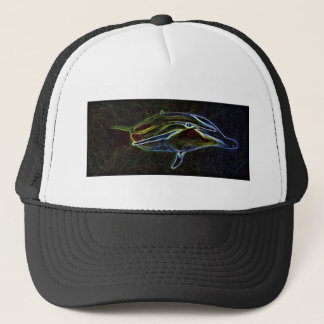 Glowing Neon Dolphin truckers cap