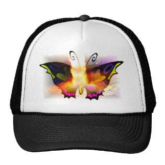 Glowing Neon Fire Butterfly Trucker Hat