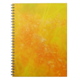 Glowing Orange Notebook