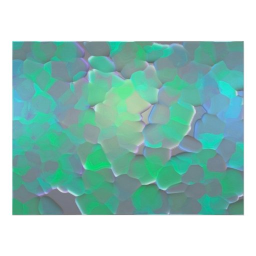Glowing Pattern Poster