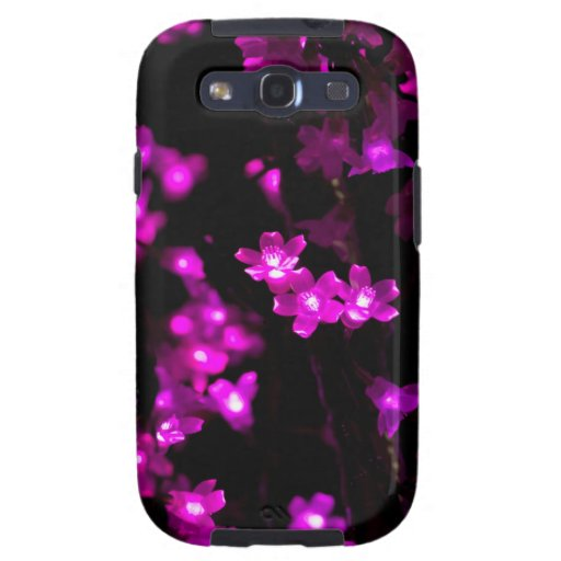 Glowing Pink Flower Lights Galaxy S3 Cases