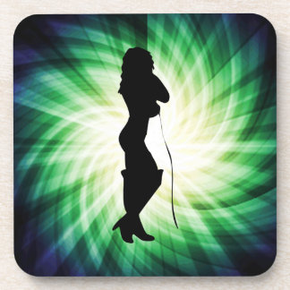 Glowing Pretty Girl with Whip Coasters