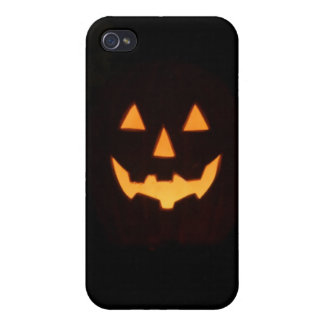 glowing pumpkin iPhone 4/4S cover
