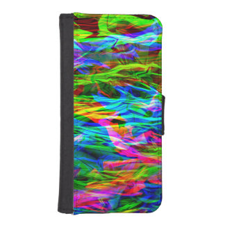 Glowing Rainbow Abstract iPhone SE/5/5s Wallet Case