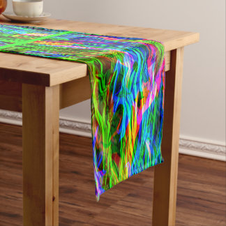 Glowing Rainbow Abstract Medium Table Runner