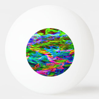 Glowing Rainbow Abstract Ping Pong Ball
