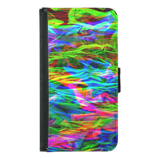 Glowing Rainbow Abstract Samsung Galaxy S5 Wallet Case