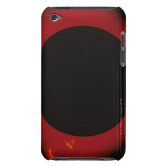 Glowing Red Corona Barely There iPod Cases