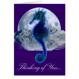 Glowing SEA HORSE Thinking of  You Card Series