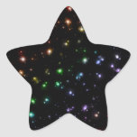 Glowing Shiny Rainbow Stars In Space