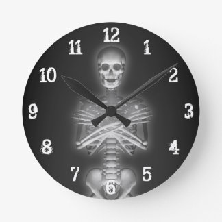 Glowing Skeleton: Wall Clock