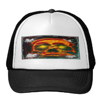 Glowing Skull Trucker Hat