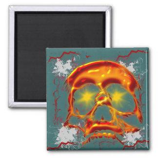 Glowing Skull Fridge Magnet