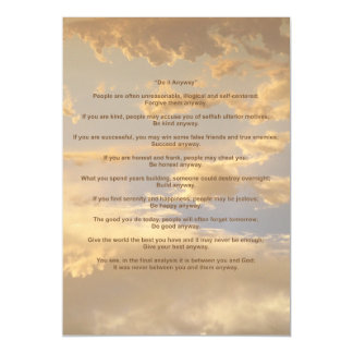 Glowing Sky Do It Anyway Magnetic Invitations