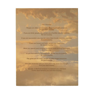 Glowing Sky Do It Anyway Wood Canvas