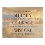 Glowing Sky Serenity Prayer Postcard