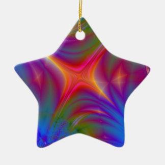 Glowing Star Ceramic Star Decoration